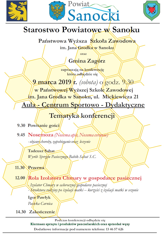 Konferencja pszczelarska   plakat